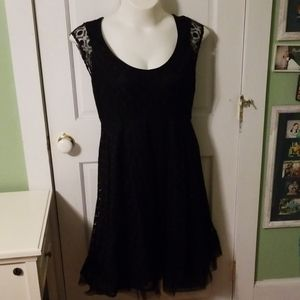 Lane Bryant black lace dress